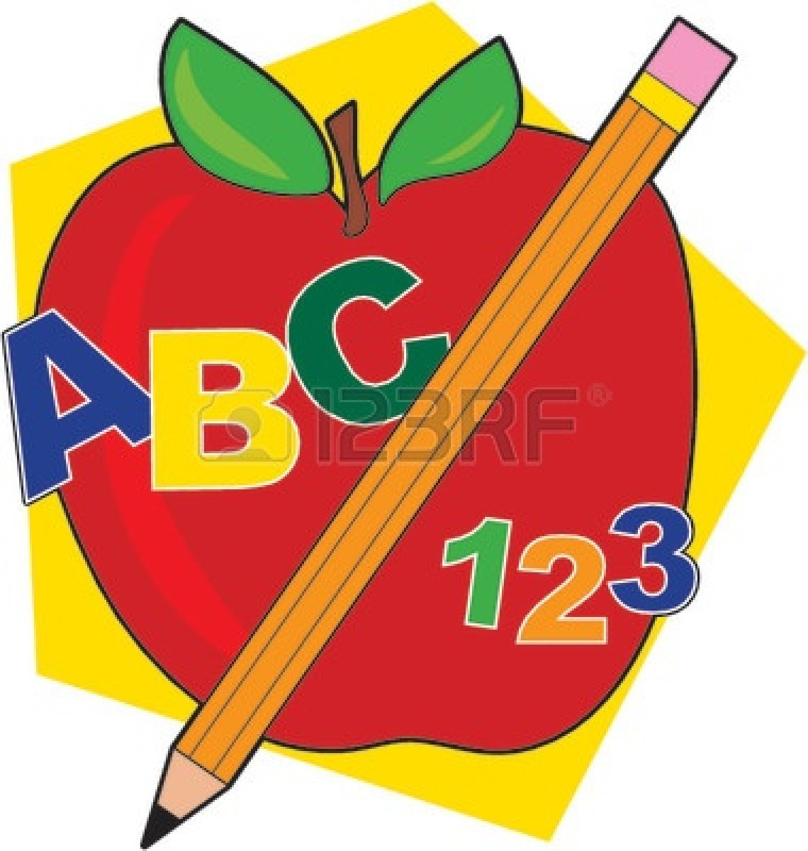 Pencil clipart one Free Clipart teacher%20apple%20and%20pencil Apple And