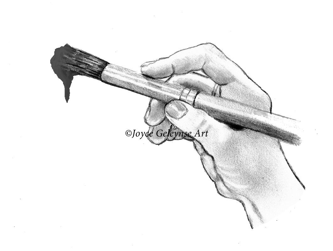 Pencil clipart paintbrush Hand a Art with Clip