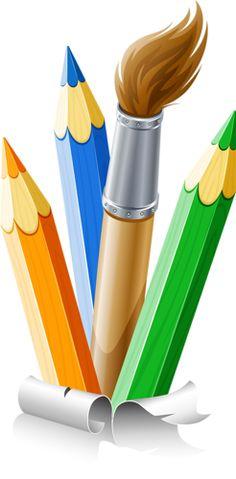 Pencil clipart paintbrush En AND Loco Gracioso Payaso