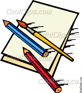 Pencil clipart paintbrush And and Vector art brush