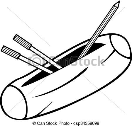 Pencil clipart pencil case Csp34358698 Search of case) box