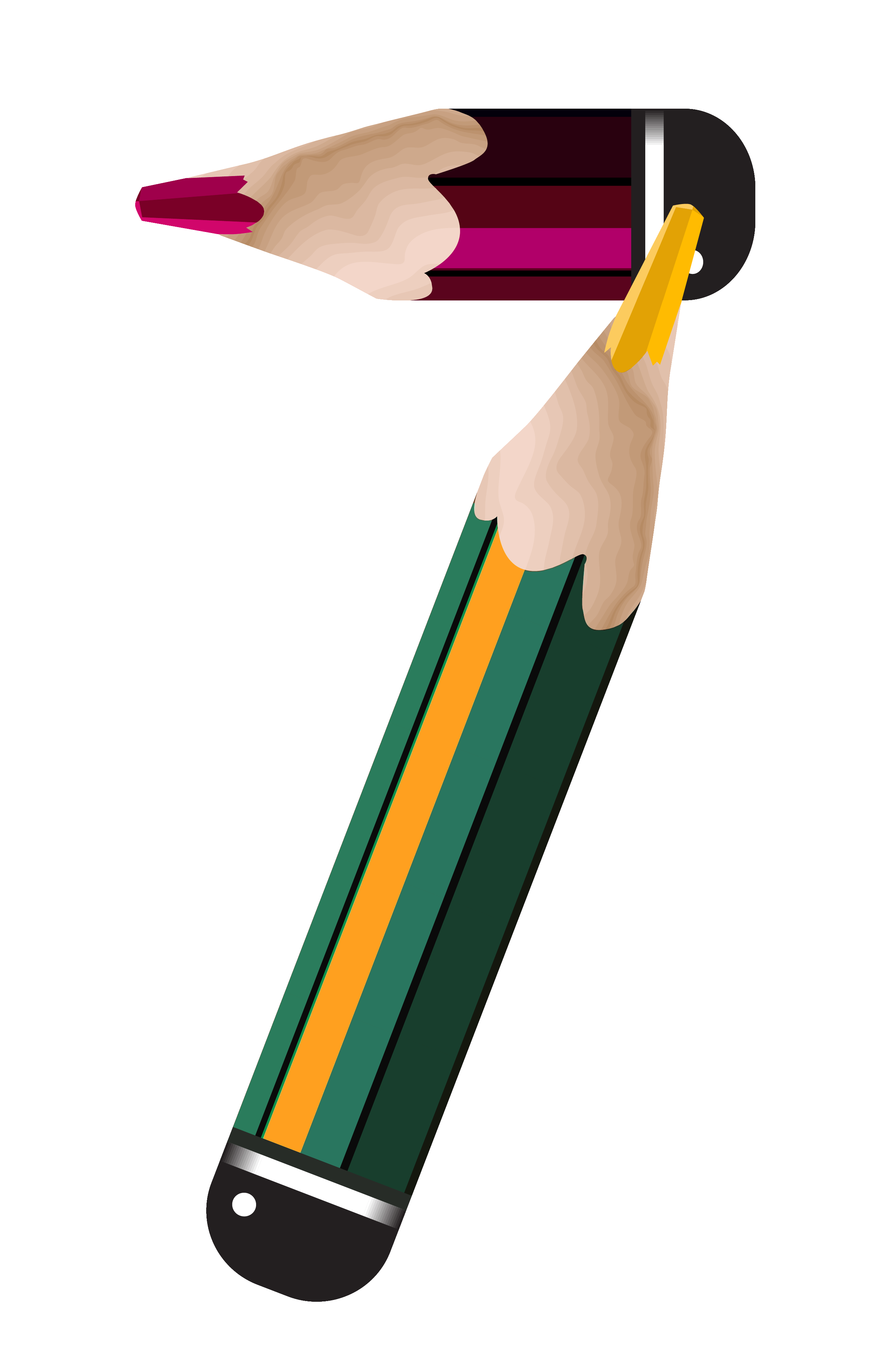 Pencil clipart seven Number size Gallery Pencil View