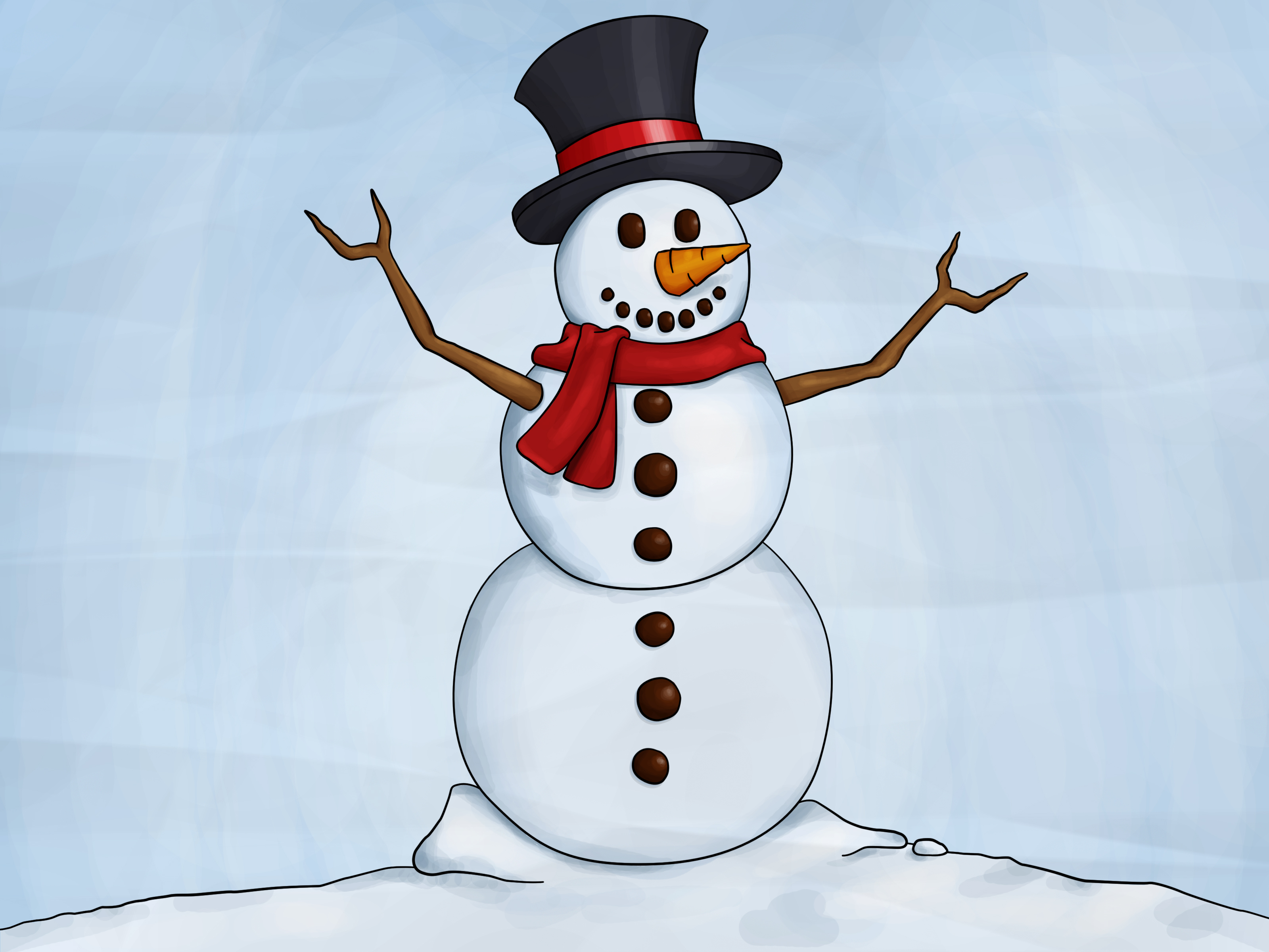 Pencil clipart snowman WikiHow Steps How Pictures) Draw