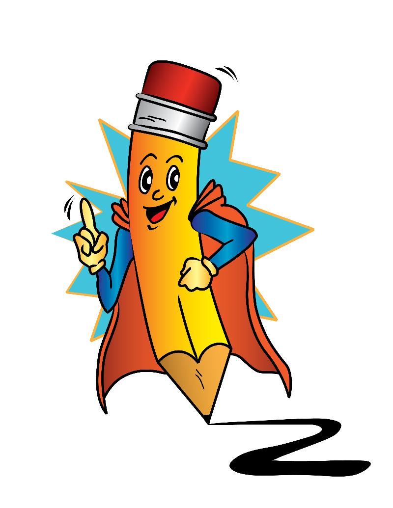 Pencil clipart superhero Pencil Manpics: Characters time man