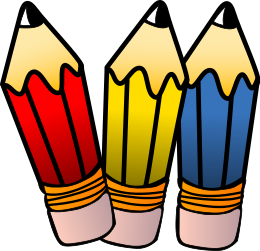 Pencil clipart three Download Pencil 6 Page Art