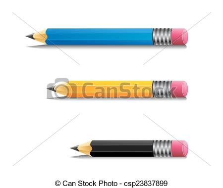 Pencil clipart three Of of  csp23837899 kind