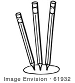 Pencil clipart three Download Pencils and Royalty Three