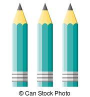 Pencil clipart three Pencil 954  green 15