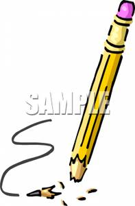 Pencil clipart tip Pencil Snapped A Picture a