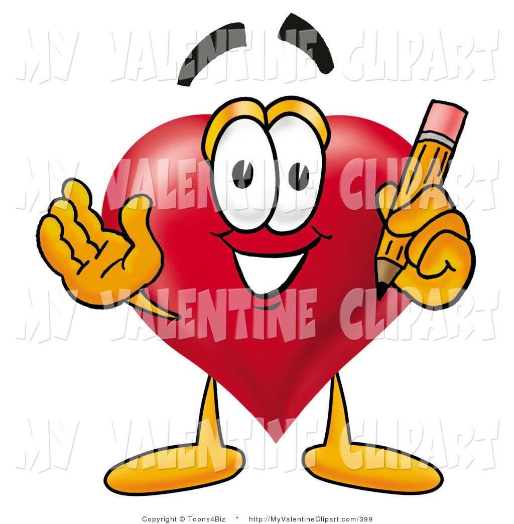 Pencil clipart valentine Clipart Clipart Yellow a of
