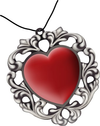 Heart-shaped clipart object Art clip  Shaped Pendant
