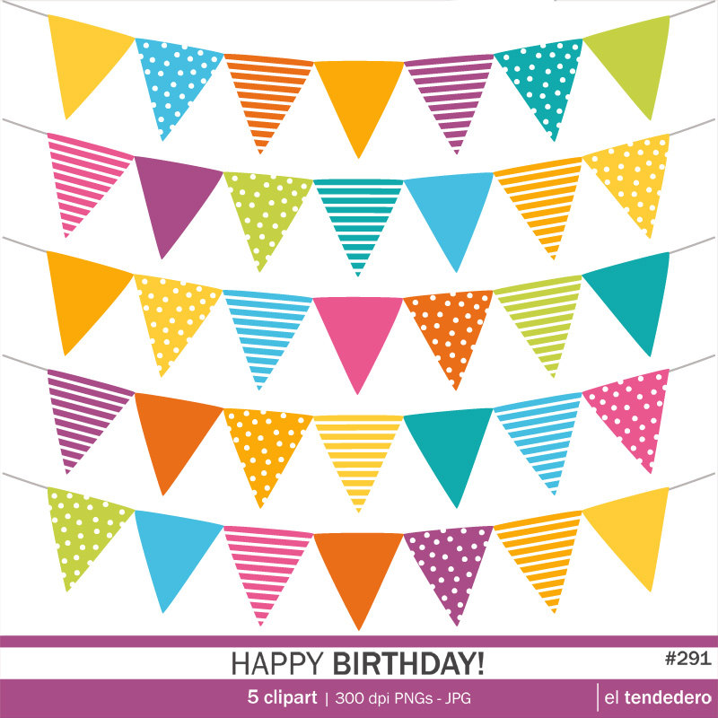 Carneval clipart banderitas CLIPARTS BIRTHDAY Art Art from