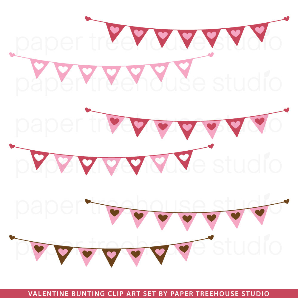 Hearts clipart heart banner And Valentine 6 Letters Clip