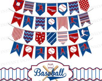 Pendent clipart baseball pennant Clipart INSTANT Baseball Pennants Baseball