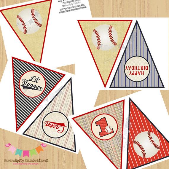 Pendent clipart baseball pennant Printable Vintage DIY DIY Birthday