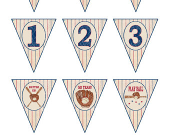 Pendent clipart baseball pennant Baseball Baseball Baby Banner Vintage