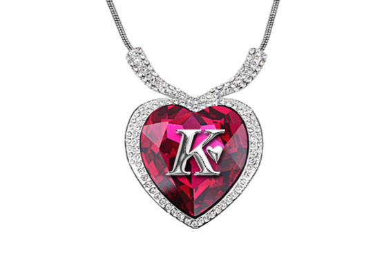 Pendent clipart beautiful heart Valentines alphabet Necklaces  Day