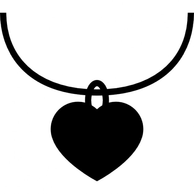 Pendent clipart black and white Heart Free shaped pendant Free
