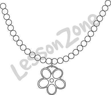 Pendent clipart black and white Art Zone AU B&W Necklace