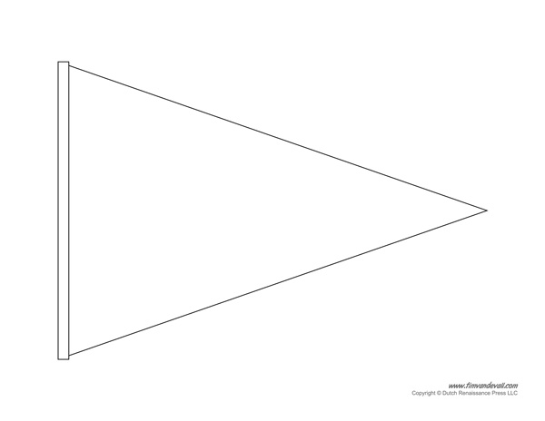 Pendent clipart blank Banner Crafthubs Triangle Banner Pennant