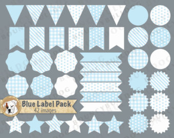 Pendent clipart blue flag Blue label labels digital frames