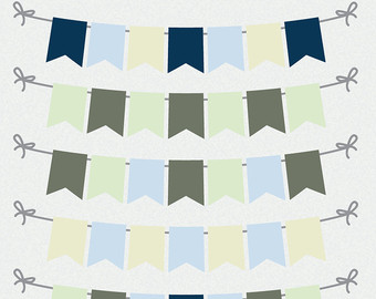 Pendent clipart blue flag Scrapbooking and Banner Etsy PNG