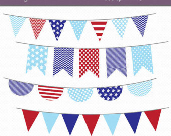 Pendent clipart blue flag Blue Bunting and Blue Art