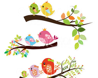 Brds clipart branch Cute On Cute Use Sitting