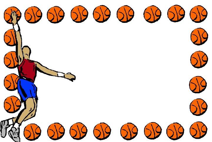 Pendent clipart border Basketball basketball%20page%20borders Images Panda Clipart