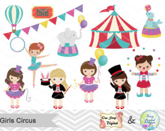 Carnival clipart circus ringmaster Digital Circus Art Circus Party