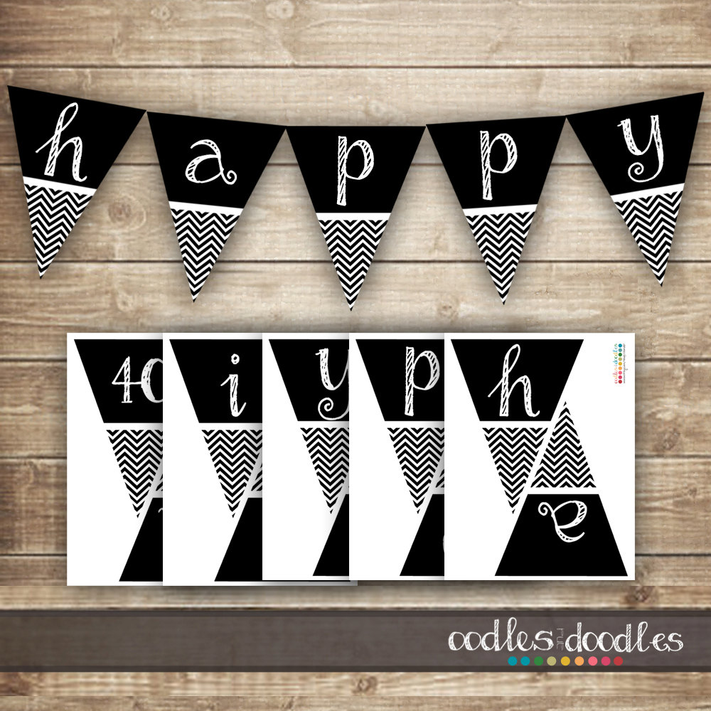 Pendent clipart chevron banner 40th / Banner 50th Etsy