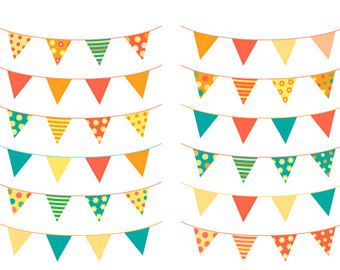 Pendent clipart chevron banner Baby clip Etsy triangle shower
