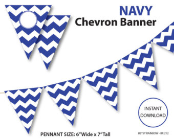 Pendent clipart chevron banner Blue chevron and DIY chevron