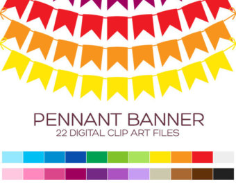 Carnival clipart pennant banner clip art Pennant Flags & Pennant Personal