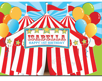 Decoration clipart circus Backdrop Banner DIGITAL Carnival/Circus Decoration
