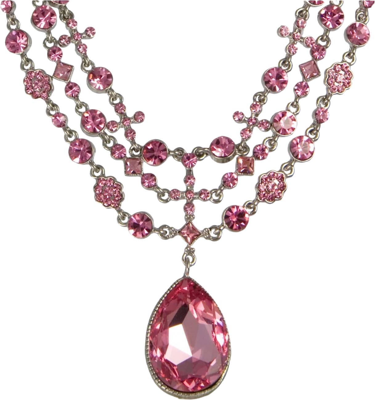 Pendent clipart diamond necklace Anavrin2010 Anavrin2010 Pink on Necklace