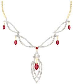 Pendent clipart diamond necklace Clipart spring Ruby and Diamond