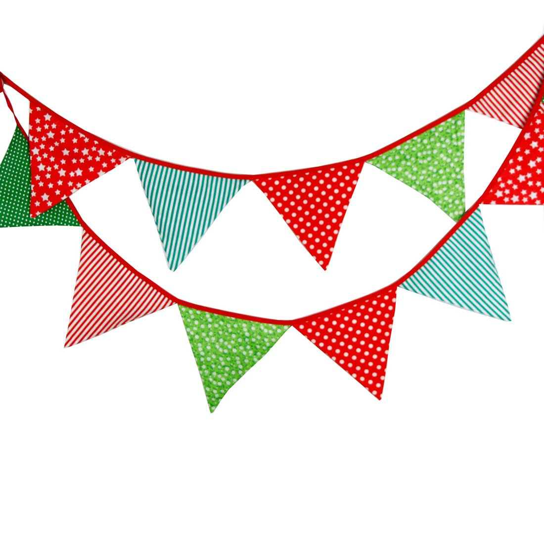 Triangle clipart triangle thing Things】Cotton Flags Party 12pcs Decoration