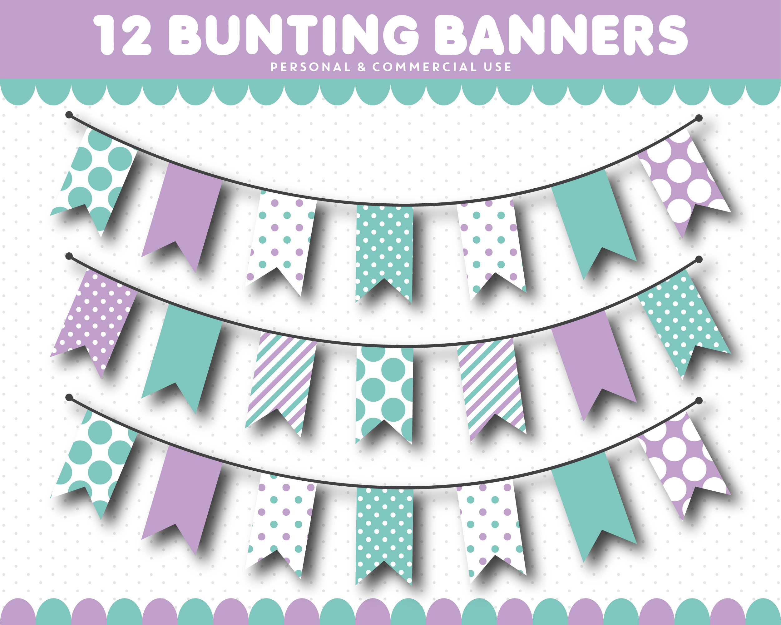 Pendent clipart festival banner Bunting This a flags Purple