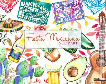 Pendent clipart fiesta Fiesta Mexican Digital Clipart Spanish