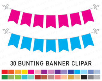 Pendent clipart flag banner Clipart: Party Clipart FLAG Etsy