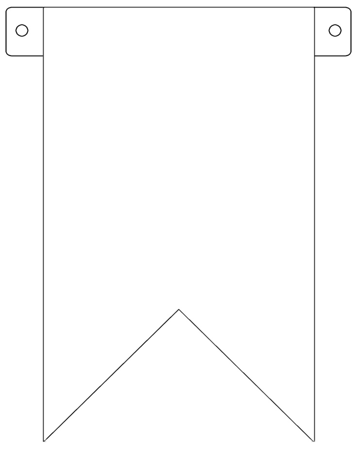 Pendent clipart flag banner Printable ideas Template Pennant Pennant