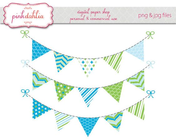 Single clipart bunting Banner Single Flag Clipart Clipart