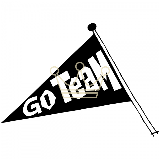 Pendent clipart go team  Gallery team pennant Image