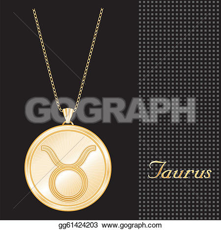 Pendent clipart gold necklace Necklace chain textured horoscope pendant