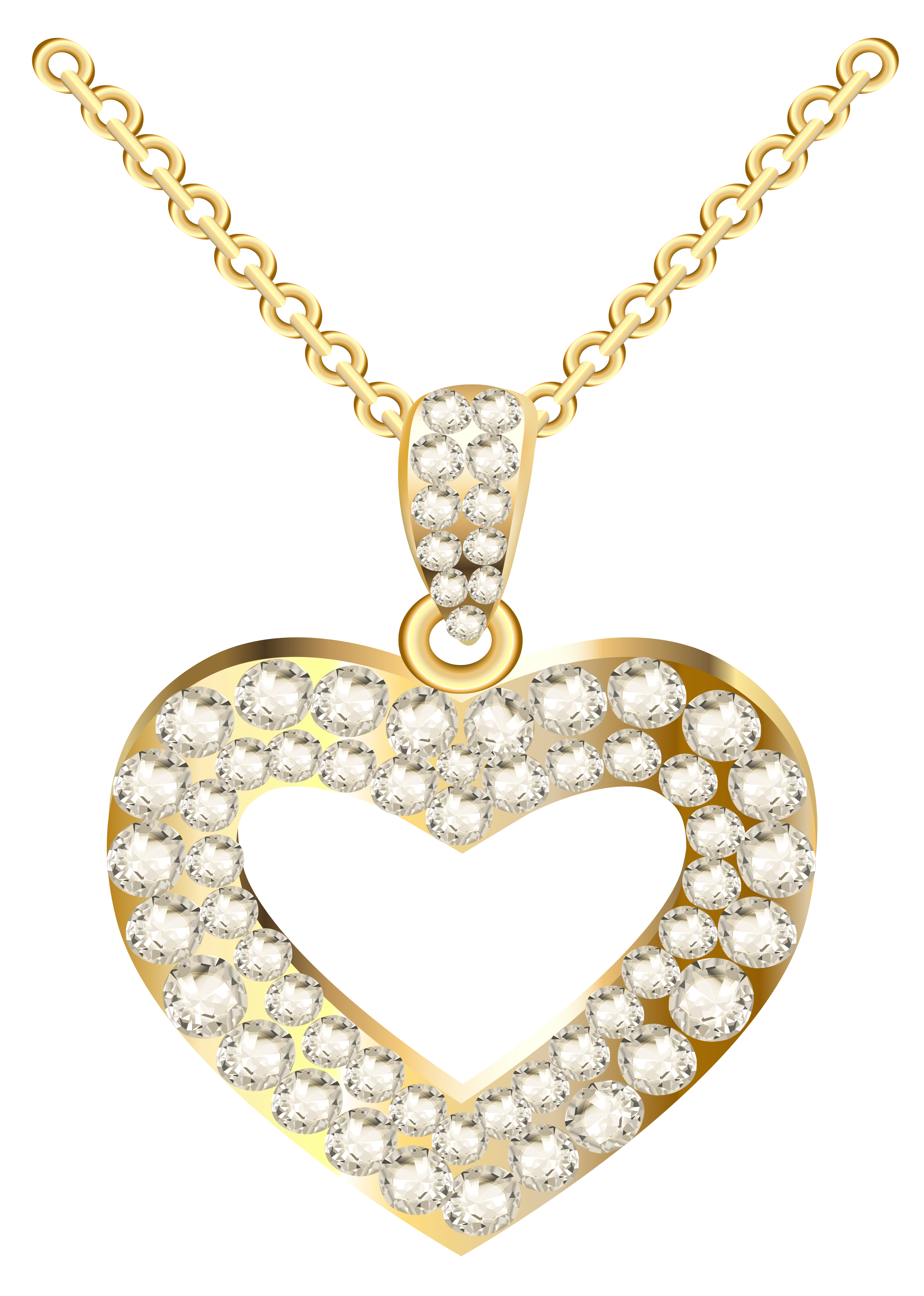 Diamond clipart diamond necklace Full with Clipart View PNG
