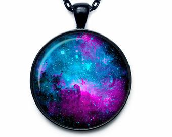 Pendent clipart jewelry Nebula Pendant NEBULA Necklace necklace