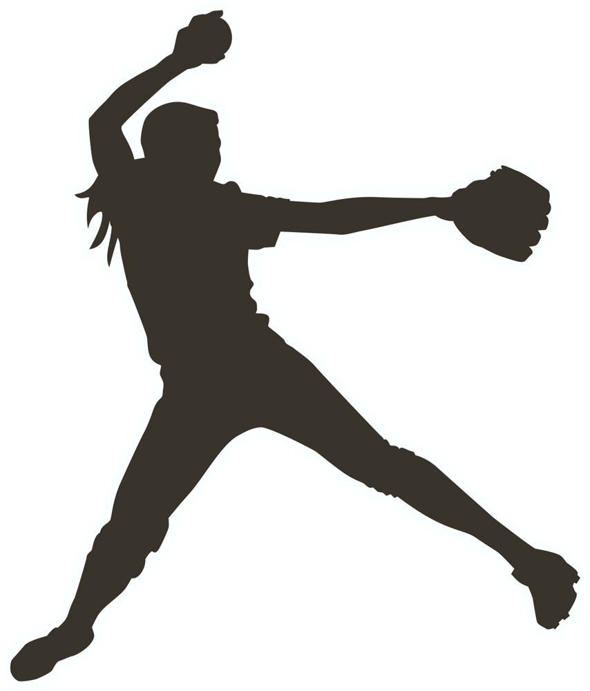 Shadow clipart softball #5