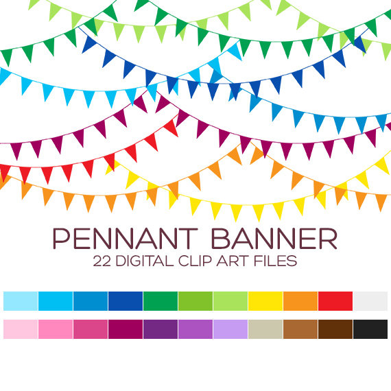 Carnival clipart flag banner & Pennant Usage Personal Clipart