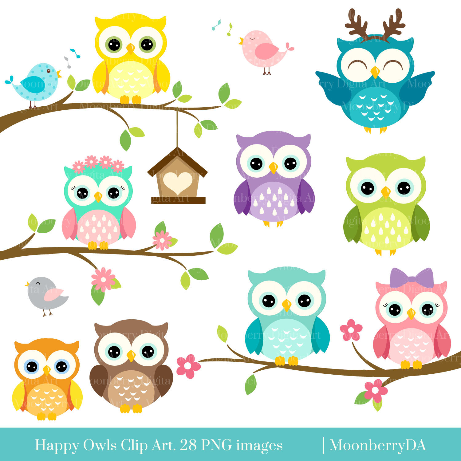 Baking clipart owls Etsy Clipart PNG Clip OWLS